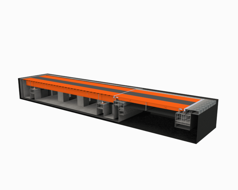 Реконструкция весов с удлинением колейной платформы